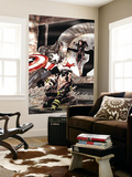 Wolverine Captain America No.2 Cover: Wolverine and Captain America Fighting Wall Mural by Tom Derenick