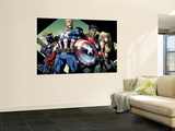Ultimatum 3 Group: Captain America, Hawkeye, Iron Man and Valkyrie Reproduction murale géante par David Finch