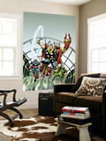 Giant-Size Marvel TPB Cover: Thor, Captain America, Iron Man, Vision and Scarlet Witch Charging Wall Mural by Rich Buckler