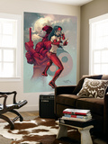 Ultimate Elektra No.3 Cover: Daredevil and Elektra Wall Mural by Salvador Larroca