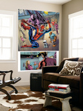 Fantastic Four 574 Group: Spider-Man, Franklin Richards, Thing and Dragon Man Wall Mural by Neil Edwards