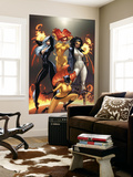Marvel Divas No.1 Cover: Hellcat, Black Cat, Captain Marvel and Firestar Wall Mural by J. Scott Campbell
