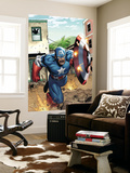 Marvel Adventures Super Heroes No.8 Cover: Captain America Wall Mural by Clayton Henry
