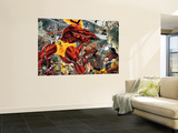 Thor No.85 Group: Surtur and Beta-Ray Bill Wall Mural by Andrea Di Vito