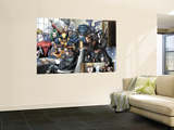 X-Men No.157 Group: Cyclops, Beast, Wolverine, Nightcrawler, Angel, Lockheed and X-Men Wall Mural by Salvador Larroca