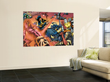 Eternals No.8 Group: Wolverine, Cyclops, Colossus, Beast and Eramis Wall Mural by Eric Nguyen