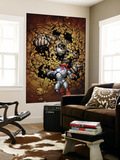 Ultimate Human No.2 Cover: Iron Man and Hulk Wall Mural by Cary Nord