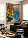 X-Men: First Class No.1 Group: Marvel Girl, Angel, Xavier, Charles and Invisible Woman Fighting Wall Mural by Roger Cruz