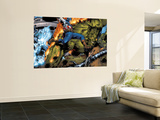 Ultimate Six No.6 Group: Captain America, Green Goblin, Wasp, Thor and Electro Wall Mural by Trevor Hairsine