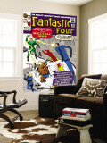 The Fantastic Four No.20 Cover: Mr. Fantastic Wall Mural by Jack Kirby