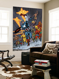 Avengers/Invader 11 Group: Captain America, Human Torch, Toro and Black Widow Wall Mural by Steve Sadowski