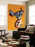 The Marvels Project No.6 Cover: Captain America Wall Mural by Steve Epting