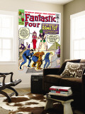 The Fantastic Four No.19 Cover: Mr. Fantastic Wall Mural by Jack Kirby