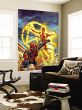 Fantastic Four No.512 Cover: Human Torch and Spider-Man Wall Mural by Mike Wieringo