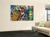 Onslaught Reborn No.5 Group: Thor, Thing, Captain America and Iron Man Wall Mural by Rob Liefeld