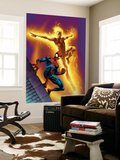 Ultimate Spider-Man No.68 Cover: Spider-Man and Human Torch Wall Mural by Mark Bagley