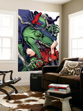 Spider-Man 1602 4 Cover: Lizard and Spider-Man Wall Mural by Michael Golden
