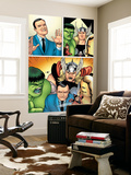 Avengers Classics No.1 Group: Hulk, Thor, Lee, Stan and Iron Man Wall Mural by Kevin Maguire