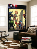Marvel Adventures The Avengers No.29 Cover: Captain Marvel Wall Mural by Sean Murphy