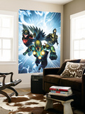 Nova No.33 Cover: Nova, Black Bolt and Darkhawk Wall Mural by Brandon Peterson