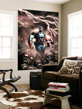 Captain America And The Falcon 9 Cover: Captain America Wall Mural by Joe Bennett