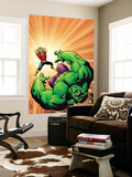 Marvel Adventures Hulk No.9 Cover: Hulk and Doc Samson Wall Mural by Steve Scott