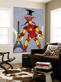 X-Statics No.24 Cover: Iron Man and Mr. Sensitive Wall Mural by Michael Allred