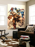 Marvel Two-In-One No.7 Cover: Juggernaut, Wolverine, Captain America, Spider-Man and Iron Man Wall Mural by Sean Chen