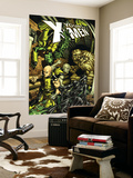 Young X-Men 8 Cover: Rockslide, Anole, Dust, Graymalkin and Ink Wall Mural by Michael Ryan