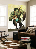 Incredible Hulk No.601 Cover: Banner, Bruce and Skaar Stretching Wall Mural by Ariel Olivetti