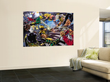 Avengers/Invaders No.4 Group: Wolverine, Ares, Ms. Marvel, Cage and Luke Wall Mural by Steve Sadowski