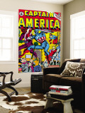 Captain America No.16 Cover: Captain America, Red Skull and Bucky Fighting Wall Mural by Al Avison