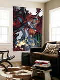 X-Men/Spider-Man 3 Cover: Spider-Man, Cyclops, Storm and Wolverine Wall Mural by Mario Alberti