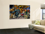 Marvel: Monsters On The Prowl No.1 Group: Fin Fang Foom, Mole Man, Moloids and Goom Wall Mural by Duncan Fegredo