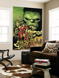 World War Hulk: Aftersmash No.1 Cover: Hulk, Iron Man and Hercules Wall Mural by Greg Land