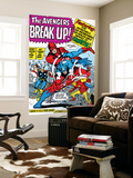 Avengers Classic No.10 Group: Captain America, Iron Man and Giant Man Wall Mural by Don Heck