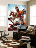 Avengers vs. Atlas 2 Group: Captain America, Thor, Iron Man, Wasp and Giant Man Wall Mural by Gabriel Hardman