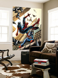 Spectacular Spider-Man No.16 Cover: Spider-Man and Captain America Fighting Wall Mural by Michael Ryan