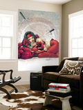 Ultimate Elektra No.4 Cover: Daredevil and Elektra Wall Mural by Salvador Larroca