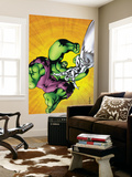 Marvel Adventures Hulk 7 Cover: Hulk and Silver Surfer Wall Mural by Juan Santacruz