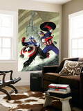 Captain America 40 Cover: Captain America Wall Mural by Steve Epting