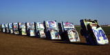 Cadillac Ranch Photographic Print by Charles Bowman