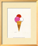 Ice Cream Dessert, c.1959 (Red, Pink and White) Prints by Andy Warhol