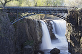 Footbridge Over The Great Falls, Paterson, NJ Photographic Print by George Oze