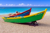 Brightly Painetd Boats, Puerto Rico Photographic Print by George Oze