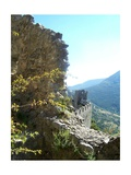 Puilaurens Castle Walls France Photographic Print by Marilyn Dunlap