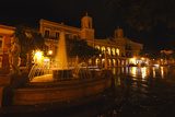 Plaza De Armas at Night, San Juan, PR Photographic Print by George Oze