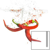Splashing Chili Pepper Prints