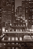 Chicago Bridges BW Photographic Print by Steve Gadomski