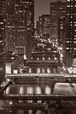 Chicago Bridges BW Photographic Print by Steve Gadomski